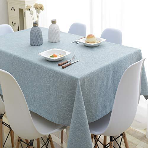 HSYLYM Baumwolle Leinen Tischdecke Pure Color Tischdecke Für Küche Rechteckige Tischdecke Fleck Staubdicht Tischdecke