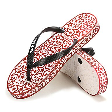 Hommes décontractées pantoufles en caoutchouc noir / vert / rouge Red