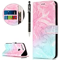 Huawei Honor 7C Hülle,Huawei Honor 7C Ledertasche Handyhülle Brieftasche im BookStyle,SainCat Retro 3D Muster... preisvergleich bei billige-tabletten.eu