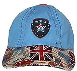 GD Boy's Peak Cap (Light Blue,2-4yrs )