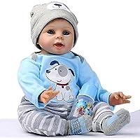 """NPK 22"""" Muñeca de Silicona Realista Suave Suave Vinilo de Silicona Renacido Bebé Muñeca Muñeca Con Muñeca Magnética Reborn Baby Dolls Toy"""