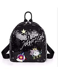 OneMoreT Mini mochila con lentejuelas y bonitas mochilas bordadas para  mujeres y niñas 007f38d1db51