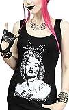 Restyle T-Shirt Noir Marilyn Monroe Version Horreur Zombie - XL