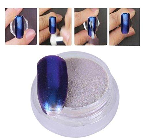 Covermason 1g / boîte Sliver Nail Glitter poudre Shinning ongles miroir maquillage Art bricolage Chrome Pigment de la poudre