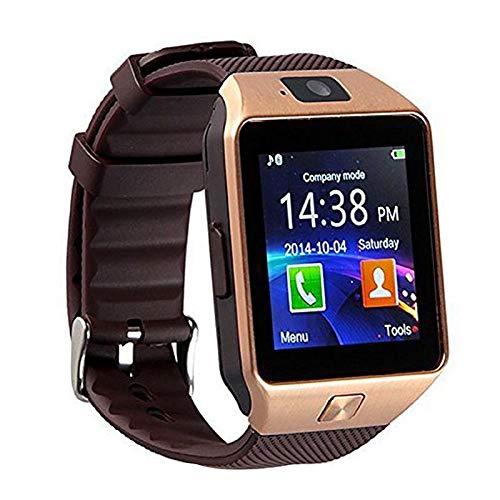 2018 Hot Wearable dispositivi intelligenti Guarda DZ09 Android Wear Orologio Smartwatch con la macchina fotografica di SIM intelligente Salute PK GT08 A1 GD19 (Black)