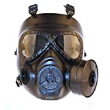 SGOYH Tattico Airsoft Paintbal Protection Gear Manichino Maschera Antigas Antigas con Ventola Turbo