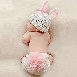 Ateid Disfraz Atrezzo de Fotografía Traje Para Bebé Recién, 0-12 Meses, Conejo