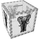 Azeeda 'Drahtrahmen Elefant' Klar Sparbüchse / Spardose (MB00038141)