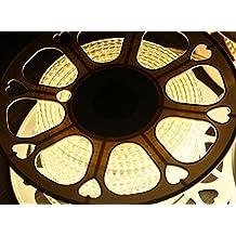 ogeled 10mm Slim LED Strip Striscia Strip, Je Meter 120leds 900lumen, Super Luminoso 2835LED impermeabile IP68, Neutrahlweiss 4000k, 15m