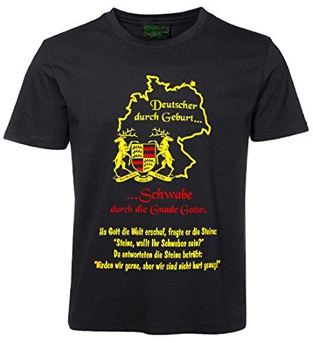 Fun Sprüche Shirt - DEUTSCHER DURCH GEBURT.. - Größe M