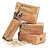 Chinchilla 4er-Pack Bambus Wattestäbchen (800 Stück) 100% Biologisch Abbaubar, Kompostierbar, Vegan & Nachhaltig