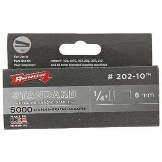 Arrow Fastener 202-10 Genuine 1/4-Inch 6mm Standard Staples, 5, by Arrow Fastener