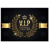 A4 XXL Dankeskarte V.I.P. THANKS - MEHRSPRACHIG mit Umschlag - Premium VIP Klappkarte für Geburtstag Hochzeit Jubiläum Danke Karte von BREITENWERK