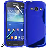 Samsung Galaxy ACE 3 GT-S7272 / GT-S7270 / GT-S7275 Wave Series Slim GEL Case Cover Includes Touch Screen Stylus ScreenProtector and Polishing Cloth