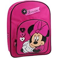 Trade Mark Collections Disney Minnie Mouse Back Pack With front Pocket (Pink)