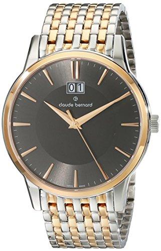 Claude Bernard Men's 63003 357RM GIR Classic Gents Analog Display Swiss Quartz Two Tone Watch