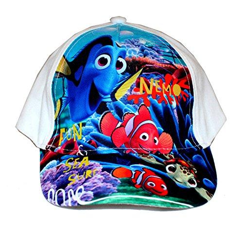 Disney Findet Nemo Baseball Cap Kappe Schirmmütze (50, Weiß)