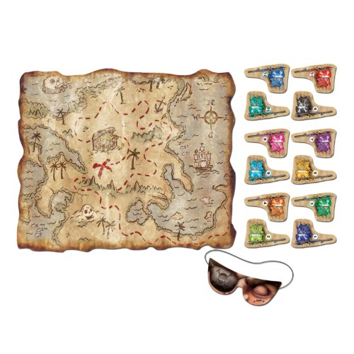 PIRATE TREASURE MAP PARTY GAME - Game Party Pin