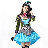 Hallowmax Damen Erwachsene Allerheiligen Kleidung Alice Dalton Les Cosplay Kostüm