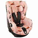 Housse de siège auto pour Maxi-Cosi Axiss – Rose avec des flamants roses