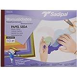 Sadipal 5979 - Bloc de manualidades con papel seda, 10 hojas