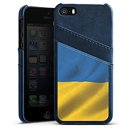 Apple iPhone 6 Housse Étui Silicone Coque Protection Ukraine Drapeau Drapeau Étui en cuir bleu marine