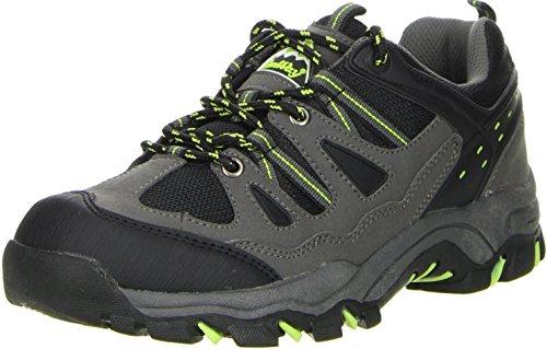 Conway Damen Herren Trekkingschuhe Outdoorschuhe schwarz, Größe:42, Farbe:Schwarz