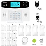 ERAY Wireless Home Security Systems GSM Alarm System, Support IOS/ Android APP, Auto Dial, SMS, Intercom and English Voice
