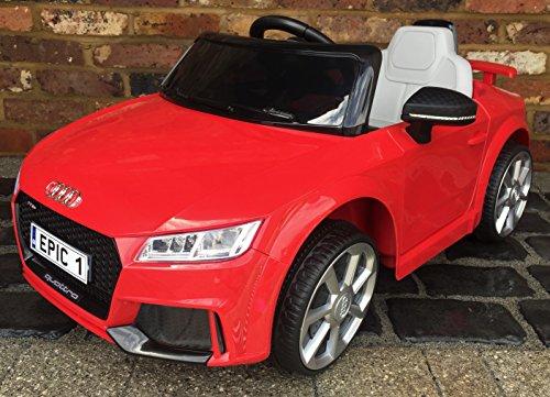 di TT RS. Lizenzprodukt. Mit Fernbedienung, 12V Elektrisches/batteriebetriebenes Aufsitzauto. Rot. ()