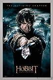 Close Up The Hobbit Poster Die Schlacht der fünf Heere Bilbo (66x96,5 cm) gerahmt in: Rahmen Silber