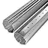 2 m bis 3,3 m Achtkant Rolladenwellen Set SW 60 verzinkt, Stahlwelle/Achtkantwelle, individuell kürzbar, Behangewicht bis max. 40 kg, von EVEROXX