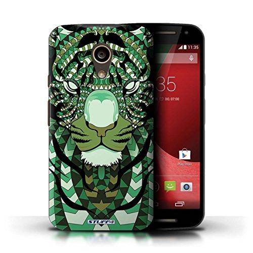 Kobalt® Imprimé Etui / Coque pour Motorola Moto G (2014) / Singe-Sépia conception / Série Motif Animaux Aztec Tigre-Vert