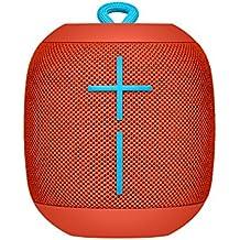 UE Wonderboom Bluetooth Lautsprecher (stoßfest Wasserdicht, Verbindung von zwei Geräten möglich) feuerball rot