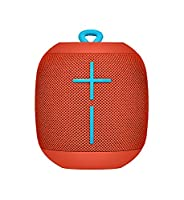Ultimate Ears 984-000853 WONDERBOOM Bluetooth Speaker Waterproof with Double-Up Connection - Fireball Red