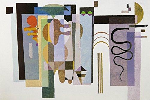 Wassily Kandinsky - Due Punti Verdi, 1935 Carta da Parati Adesiva (180 x 120cm)