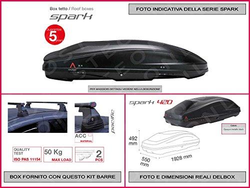 Box Dachbox G3SPARK 420und Kit Leser Pacific Edelstahl 1,1m