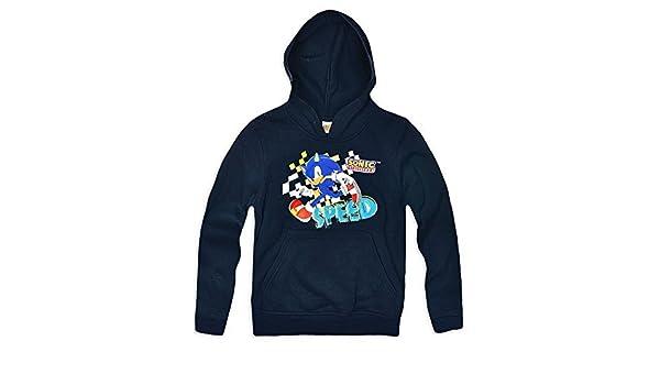 Boys Sonic The Hedgehog Speed Hoody Sweatshirt Jumper Top Sizes 3 4 8 Years