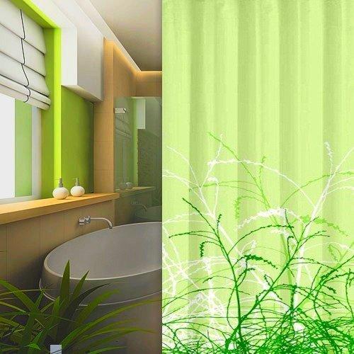 Tenda doccia in tessuto ERBE Design 240x200 cm incl. Anelli Verde ...