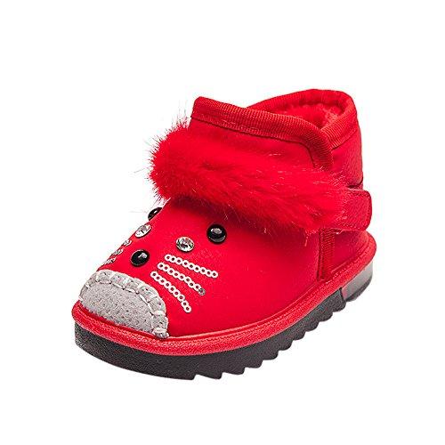d5c3838c88e95 Chaussures Bébé Binggong Enfants en Bas Âge Dessin Animé Fourrure Chaud Bébé  Garçons Filles Chaussures Lumineuses