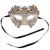 Sliver Warrior Roman Greek Hercules Design Venetian Men Masquerade Mask - Silver by LMK