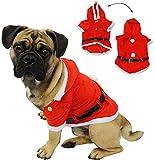 Unbekannt Kostüm Weihnachtsmann -  Hund  - Weihnachtsjacke für Hunde - Weihnachtskostüm / Karneval / Weihnachten / Nikolauskostüm / Nikolaus - Jacke - Mantel & Gürtel..
