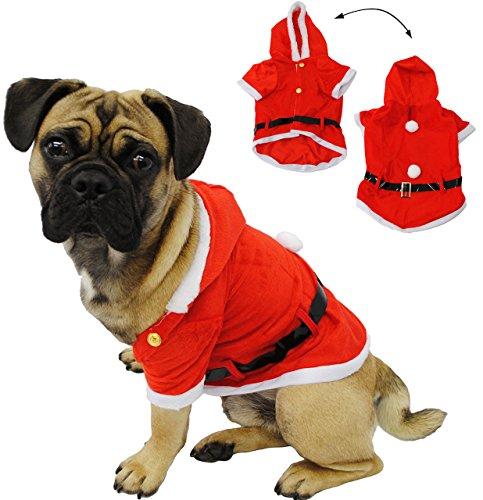 alles-meine.de GmbH Kostüm Weihnachtsmann -  Hund  - Weihnachtsjacke für Hunde - Weihnachtskostüm / Karneval / Weihnachten / Nikolauskostüm / Nikolaus - Jacke - Mantel & - D Hunde Alle Kostüm