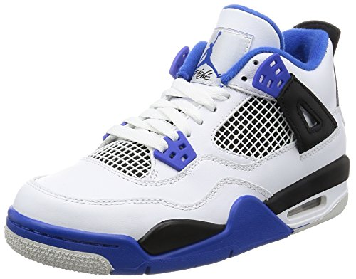 Nike Air Jordan 4 Retro BG (GS) 'Motor Sport' - 408452-117 - Size 6.5 - (Jordan Retro 4 Große Kinder)