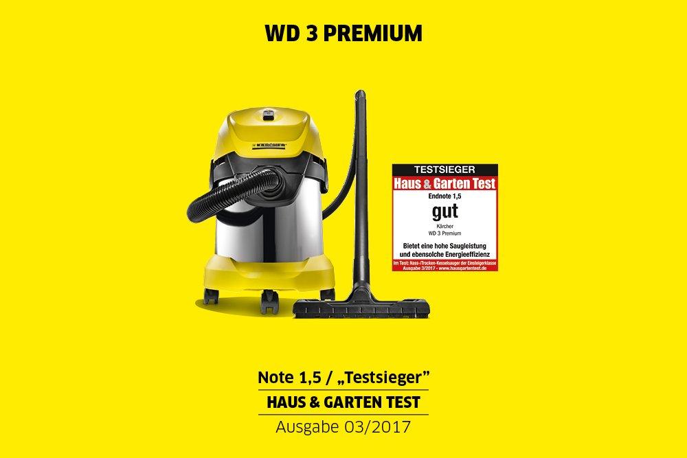 Kärcher Mehrzwecksauger WD 3 Premium + Kärcher Patronenfilter für WD 2-3 und SE 4001 / 4002