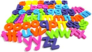 Chad Valley 72 Piece Alphabet Letters Fridge Magnets Multicolured (with Carry Pouch)