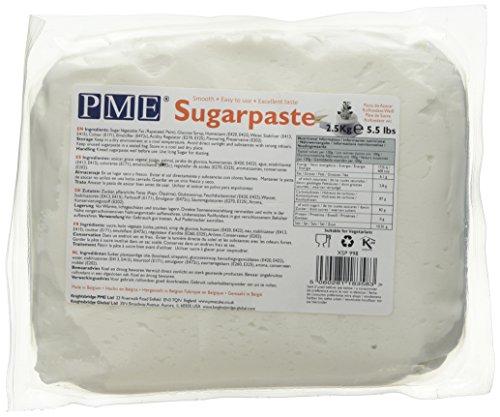 PME Gebrauchsfertige Zuckerpaste Weiß, 2500 g