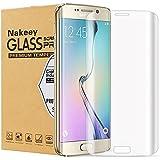Nakeey Samsung S7 Edge Protection d' Écran, Film de 3D Incurvé en Verre Trempé pour Galaxy S7 Edge - Protecteur Transparent Vitre Trempée HD Anti-casse Anti-rayures