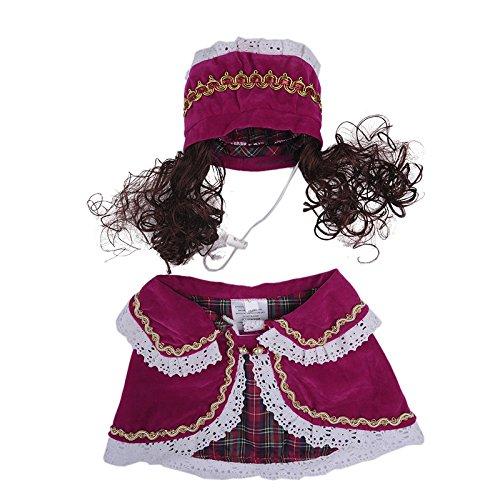 Samber Animal Vêtement Cape Caniche Chien Costume, rose M