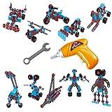 3D Puzzle Spielzeug Bauen mit Akkuschrauber Kinder 10 in 1 Modellen Kreatives Spielzeug Geschenk für Kinder Mädchen Jungen