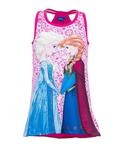 nzessin Elsa Anna Mädchen Nachtwäsche Nachtwäsche Large-T-Shirt-Kleid 4 bis 8 Jahre (Kleider Elsa Eingefroren)